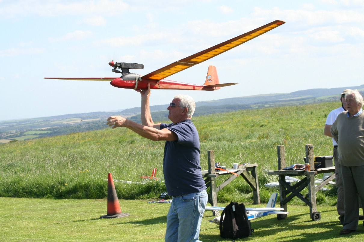 Marty Launching Johns Glider