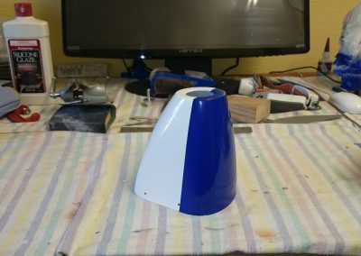 Cowl With Top Sprayed Blue
