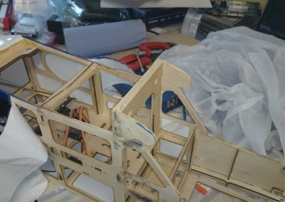 Dry Fitting of F2 Formers and Doubler