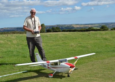 Marty With Top Flite Cessna 182 Skylane