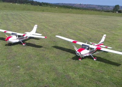 Marty's & My Cessna on right Before Maiden Flight