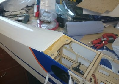 Rear Wing Bolt Recieving Plate Re Fitted and Glued